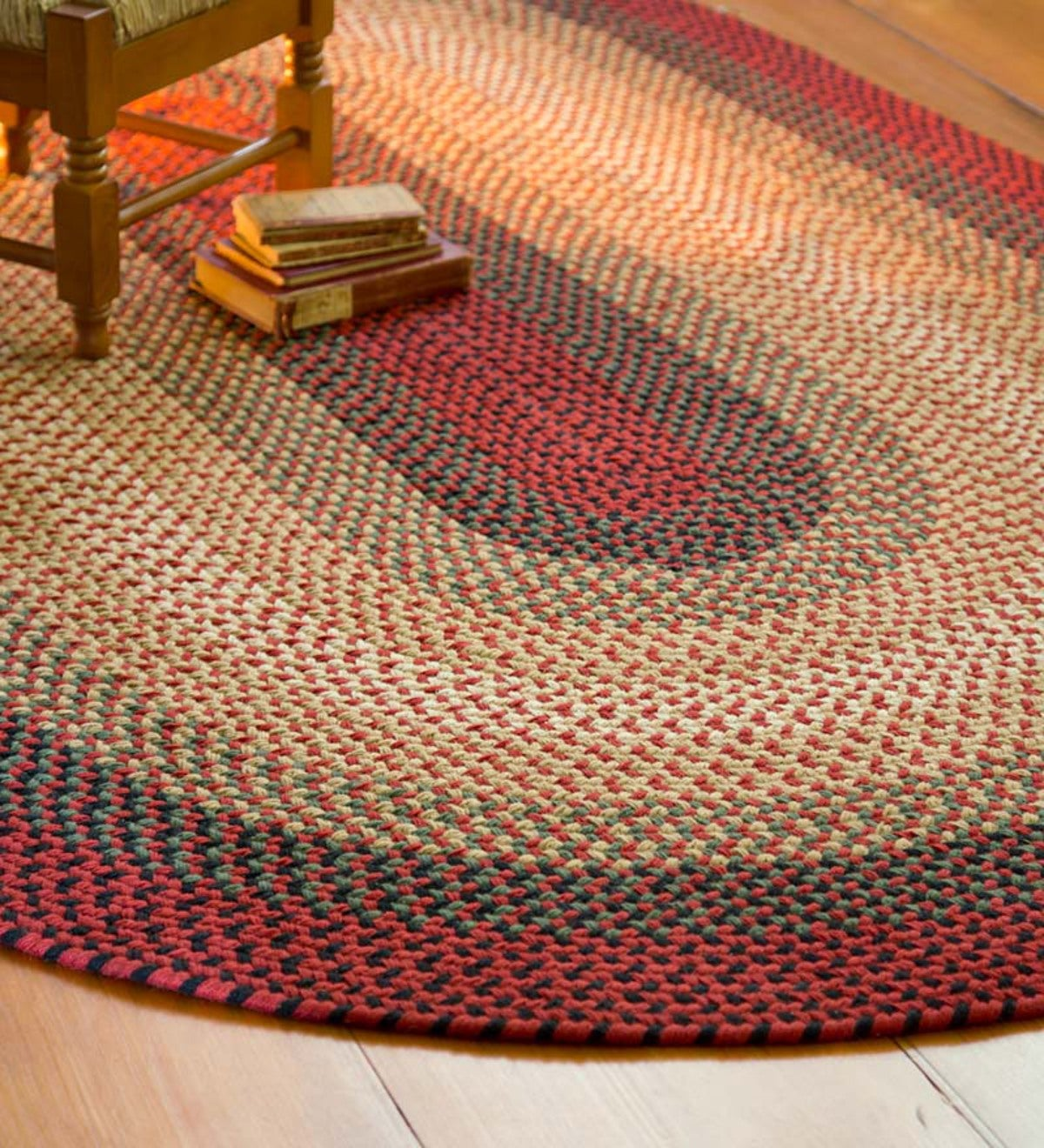 USA-Made Wool Braided Virginia Rug, 2' x 3'