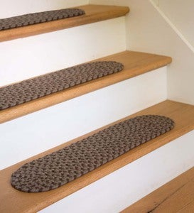 "USA-Made Wool Braided Virginia Stair Tread, 8""x 28"""