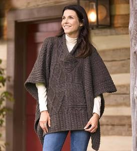 Irish Wool Poncho Sweater