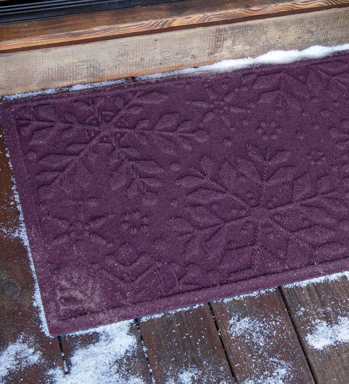 Waterhog Snowflake Doormat Bordeaux Plowhearth