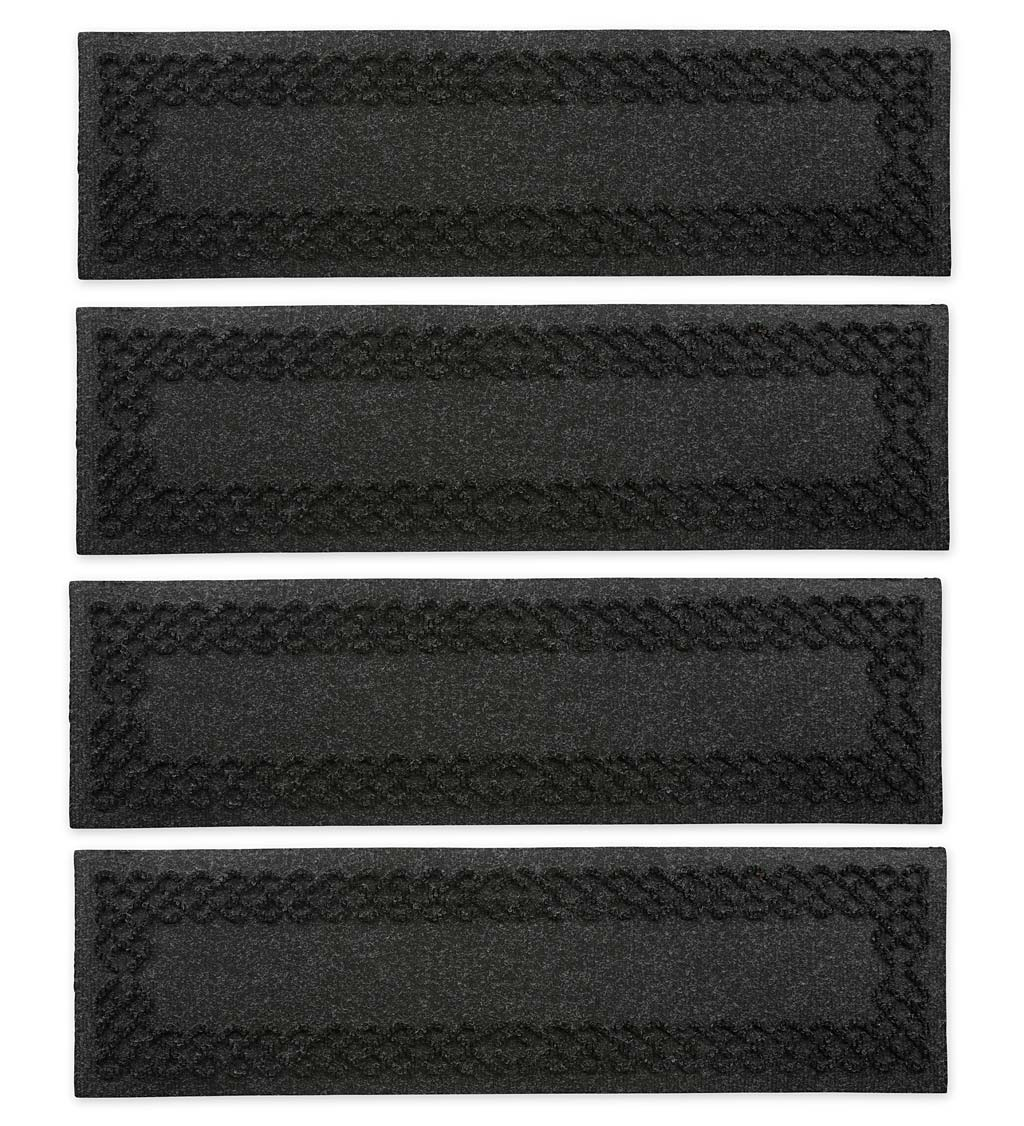 Waterhog Cable Weave Stair Tread Mats, Set of 4