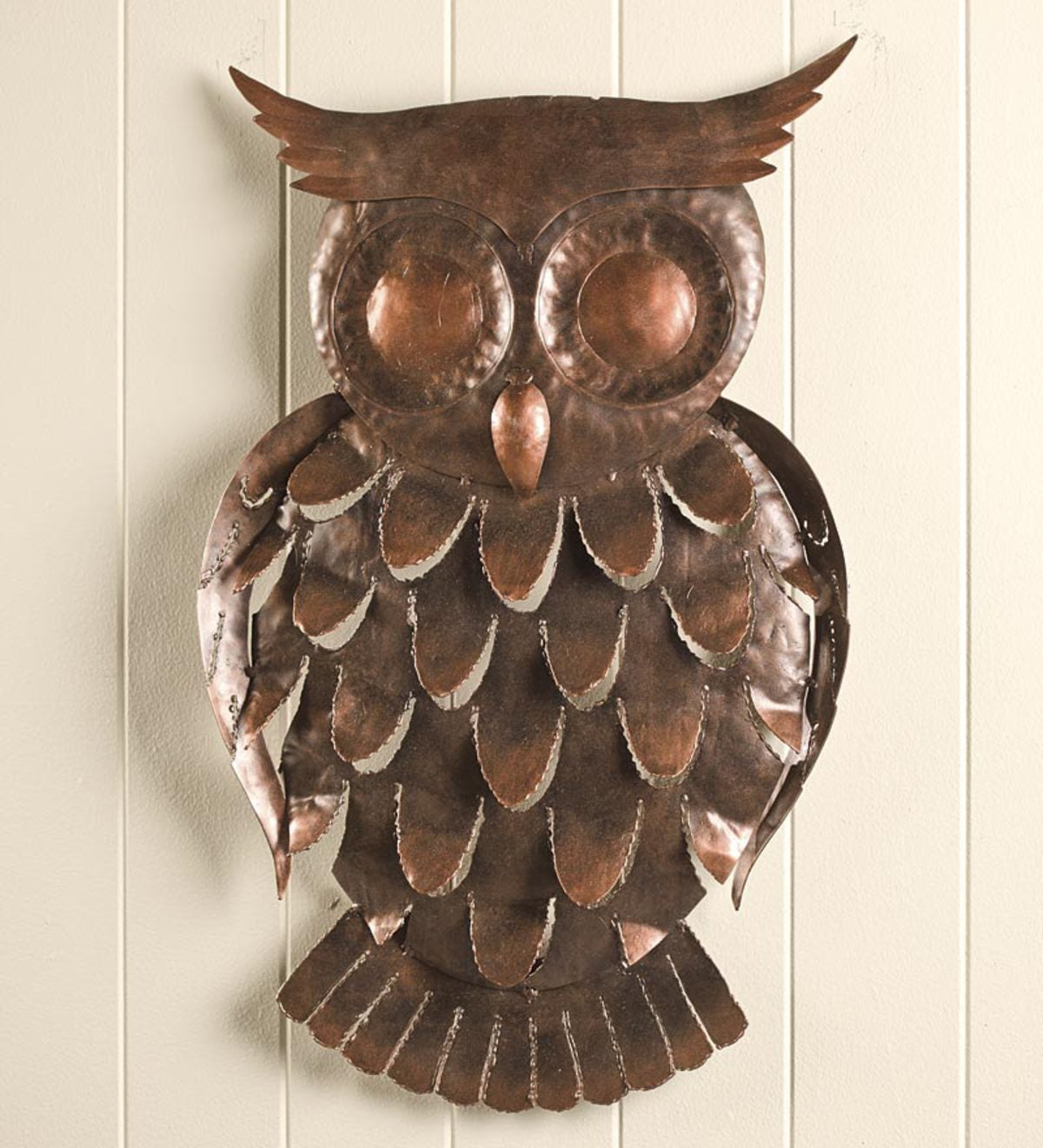 Handcrafted Recycled Metal Owl Wall Art