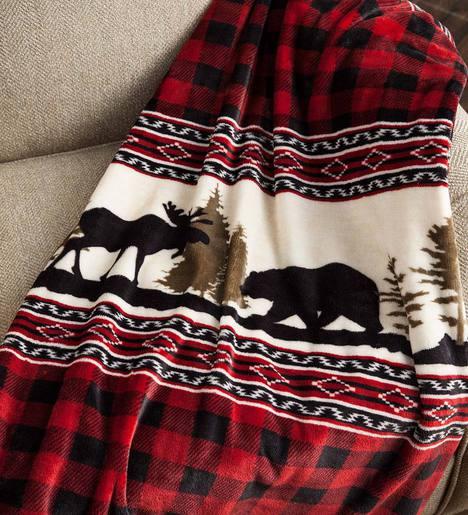Wilderness Buffalo Plaid Fleece Throw
