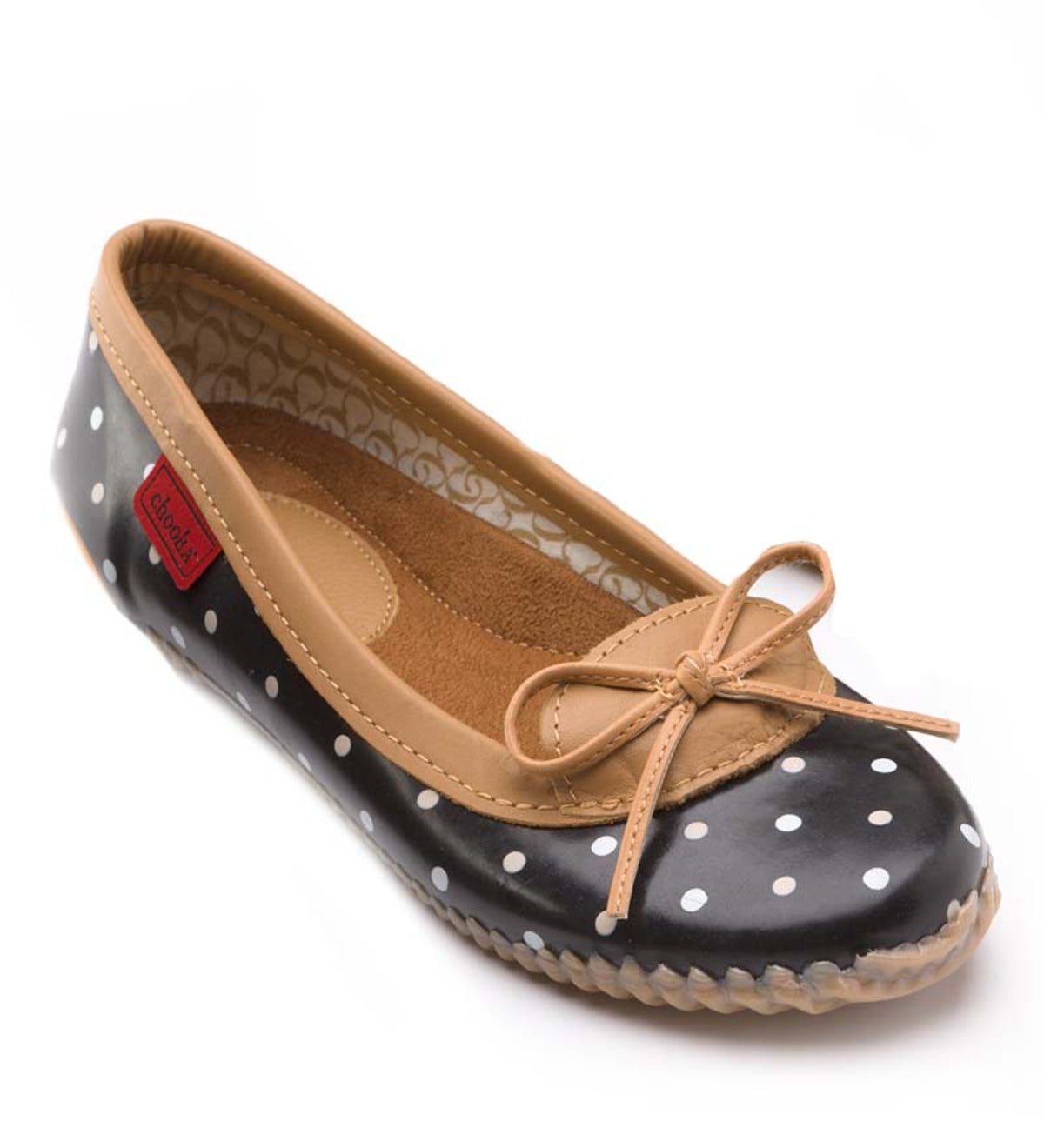 Chooka® Women's Waterproof Duck Slip-On Dot Skimmers - Black Dot - Size 7