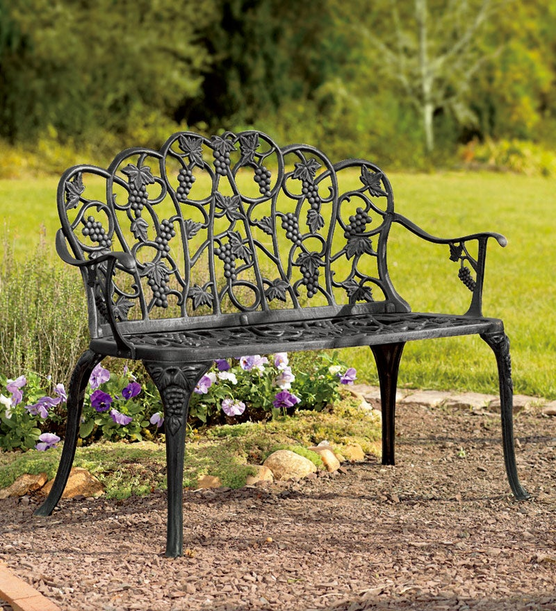 Grapevine Garden Bench in Powder-Coated Aluminum swatch image