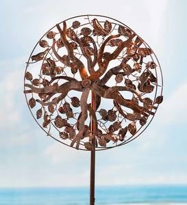 Copper Tree of Life Wind Spinner