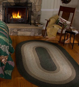 USA-Made Wool Braided Virginia Rug