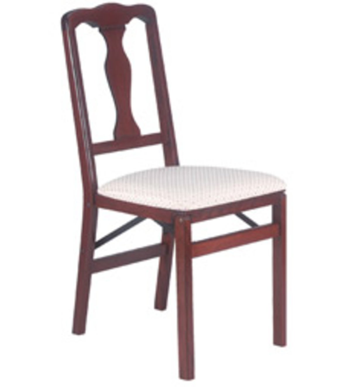 Queen Anne Folding Chair, set of 2 - FRUITWOOD FINISH - Style=EVERGREEN