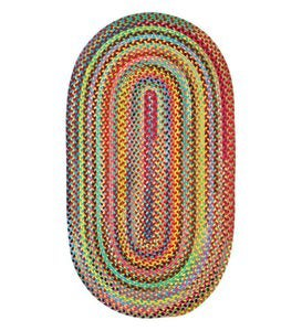 8' x 11' Spirited Oval Braided Rug - Multi