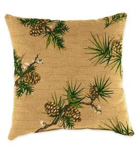 "Polyester Classic Throw Pillow, 18"" - Peaceful Pine"
