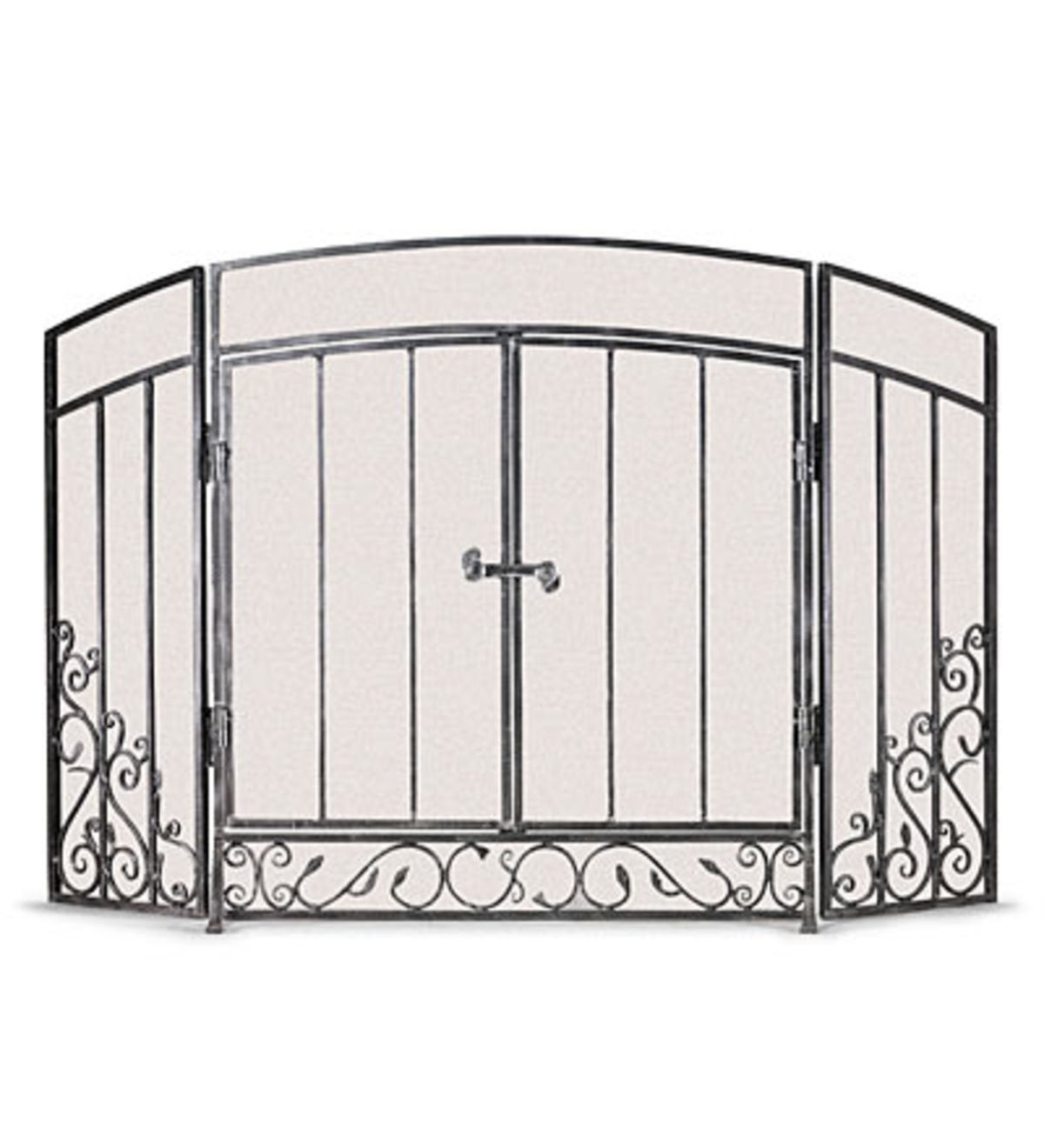 Pewter Renaissance Hearth Screen - Black