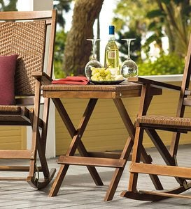 Weather-Resistant Outdoor Folding Wooden Table - WHITE
