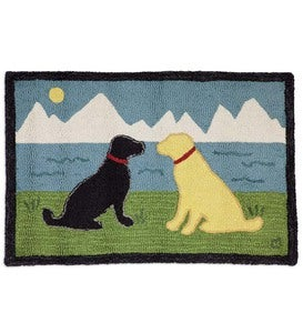 Hand-Hooked Wool Lakeside Labs Hearth Rug