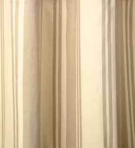 "72""L Thermalogic™ Wide Stripe Grommet-Top Insulated Curtains - Khaki"