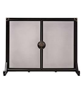 Large Greenwood Fire Screen with Doors