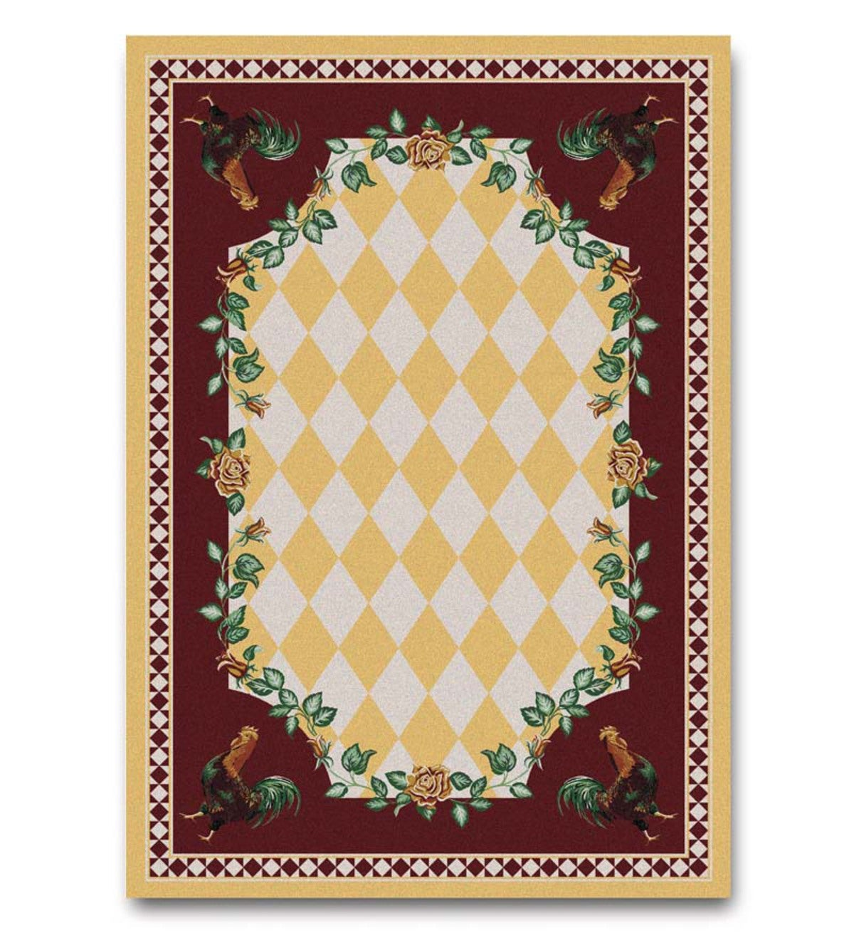 4' X 5' High Country Rooster Area Rug