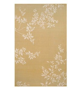 "Leafy Vines Indoor/Outdoor Polypropylene Rug, 4'10""x 7'6"" - Terra Cotta"