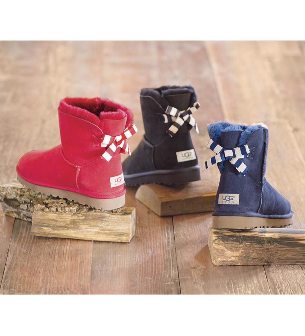 db33e5405e7 UGG Australia Women's Mini Bailey Bow Stripe Boot | PlowHearth