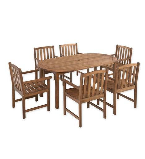 Lancaster Oval Table Set, Oval Table and 6 Chairs