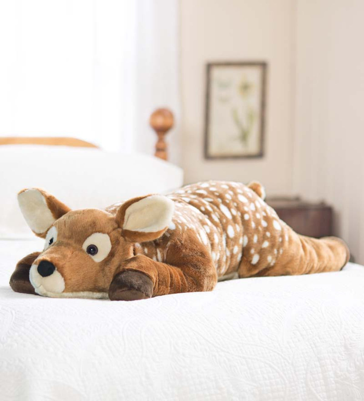Fuzzy Spotted Fawn Body Pillow