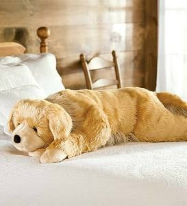 Super Soft Golden Retriever Body Pillow with Realistic Features