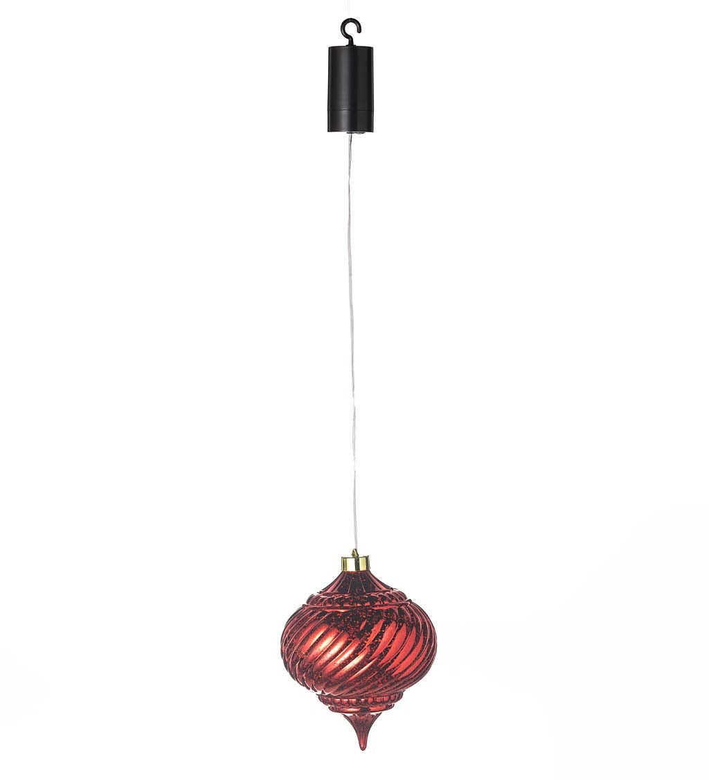 Indoor/Outdoor Shatterproof Holiday Lighted Hanging Ornament swatch image
