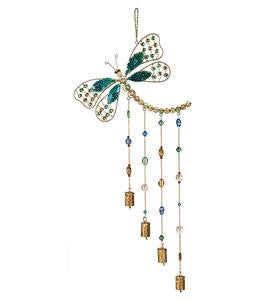 Beaded Glass and Metal Dragonfly Wind Chime