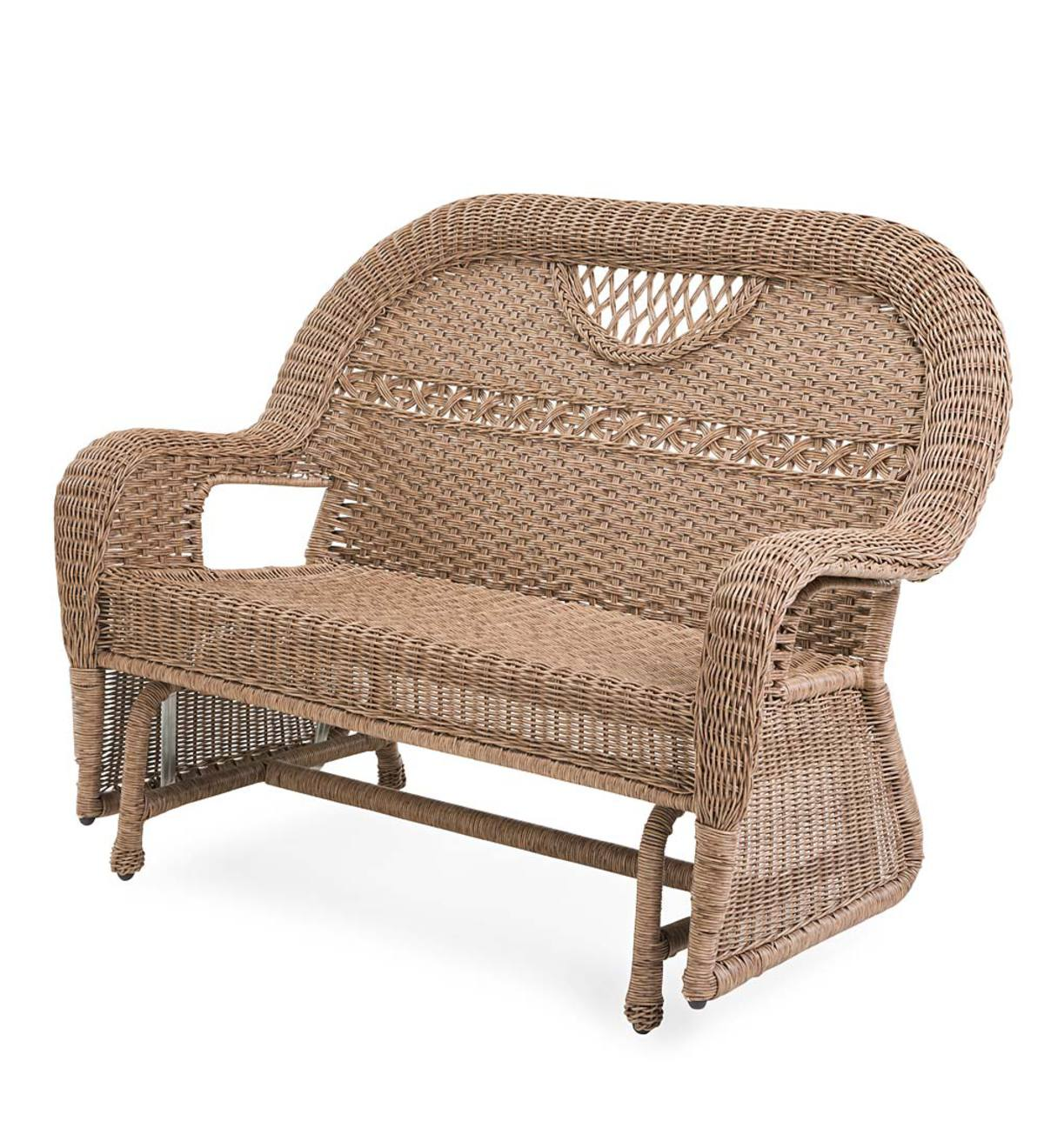 Prospect Hill Wicker Love Seat Glider And Chair Glider Set