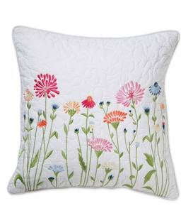 Emeline Floral Quilted Throw Pillow, 16""