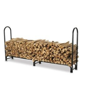 "Large Heavy-Duty Steel Log Rack, 96""L x 13""W x 45""H"