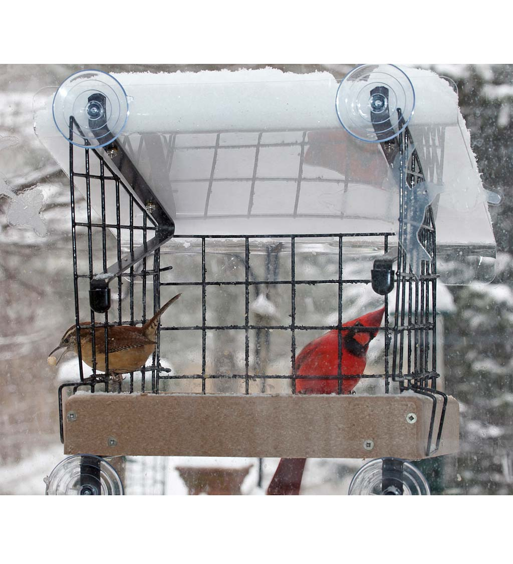 Window-Mount Platform Bird Feeder Kit