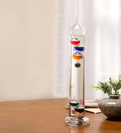 Classic Galileo Thermometer Decorative Accents Plowhearth