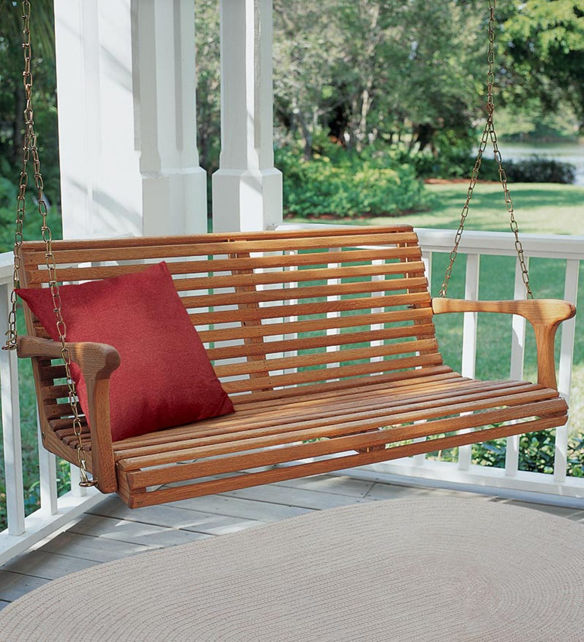 All Weather Appalachian White Oak Porch Swing with