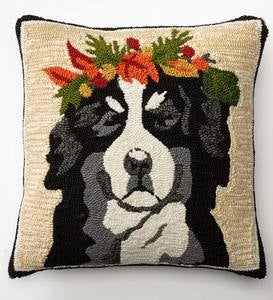 Lighted Holiday Hound Pillow - Shep