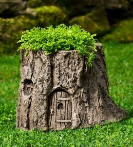 USA-Made Cast Stone Handcrafted Fairy Garden Planter