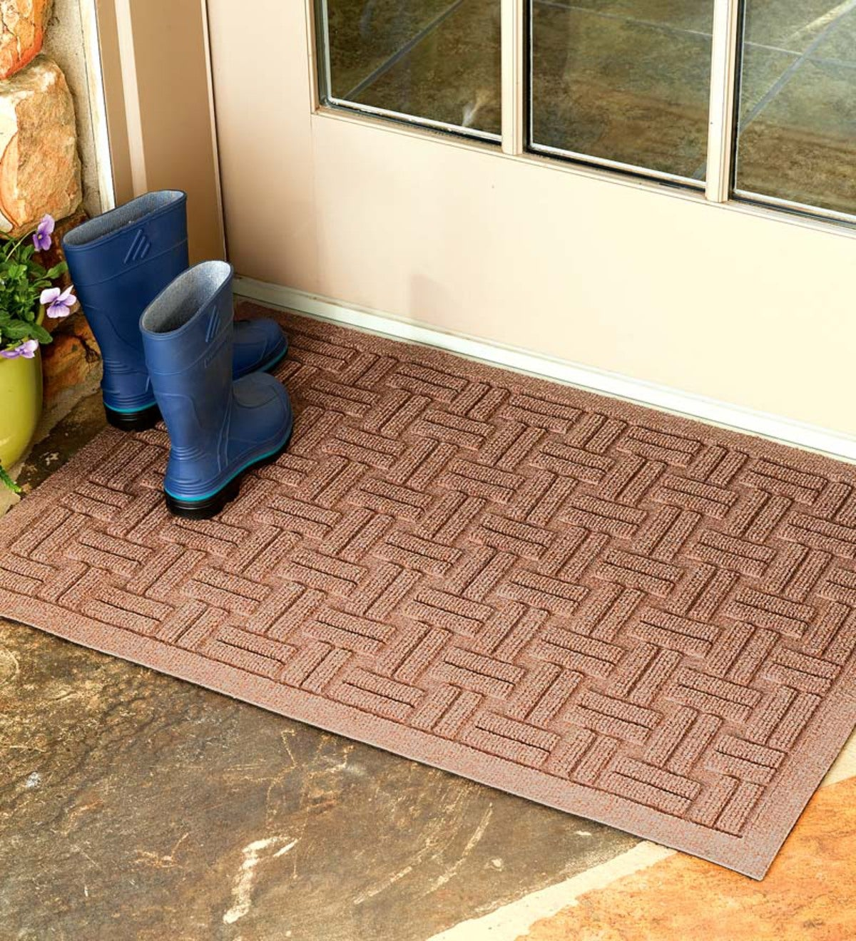 Oversized Basket Weave Waterhog™ Doormat, 3' x 5'