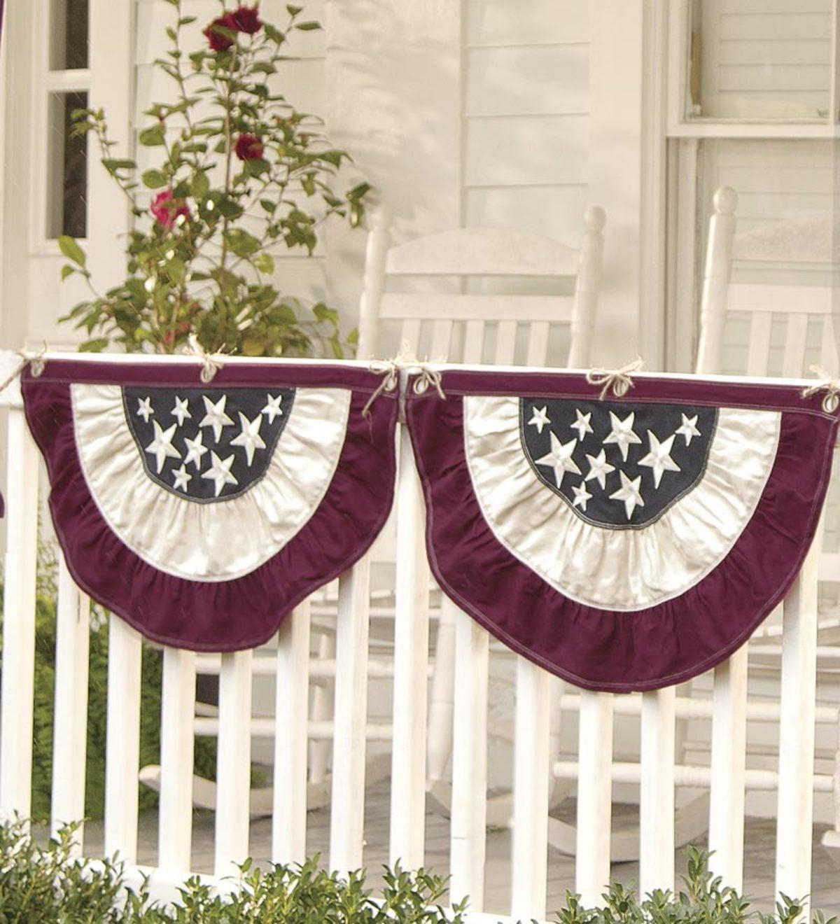 Large Half Round Americana Flag Bunting 60 1 2 Quot W X 31 1 4