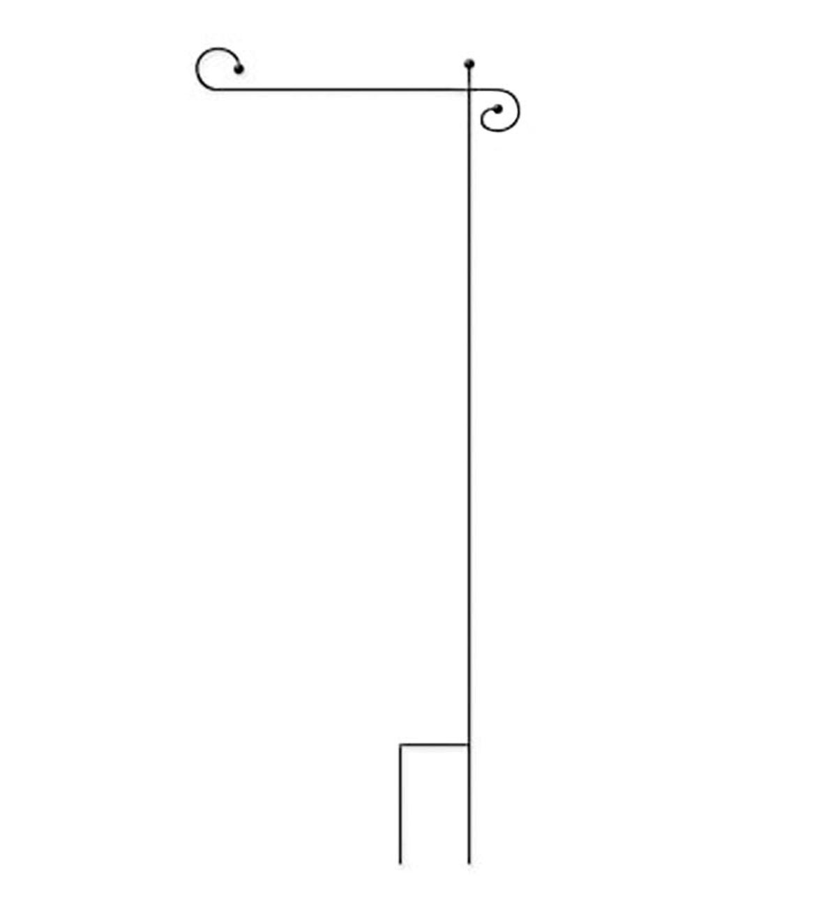 Powder-Coated Metal Garden Flag Stand