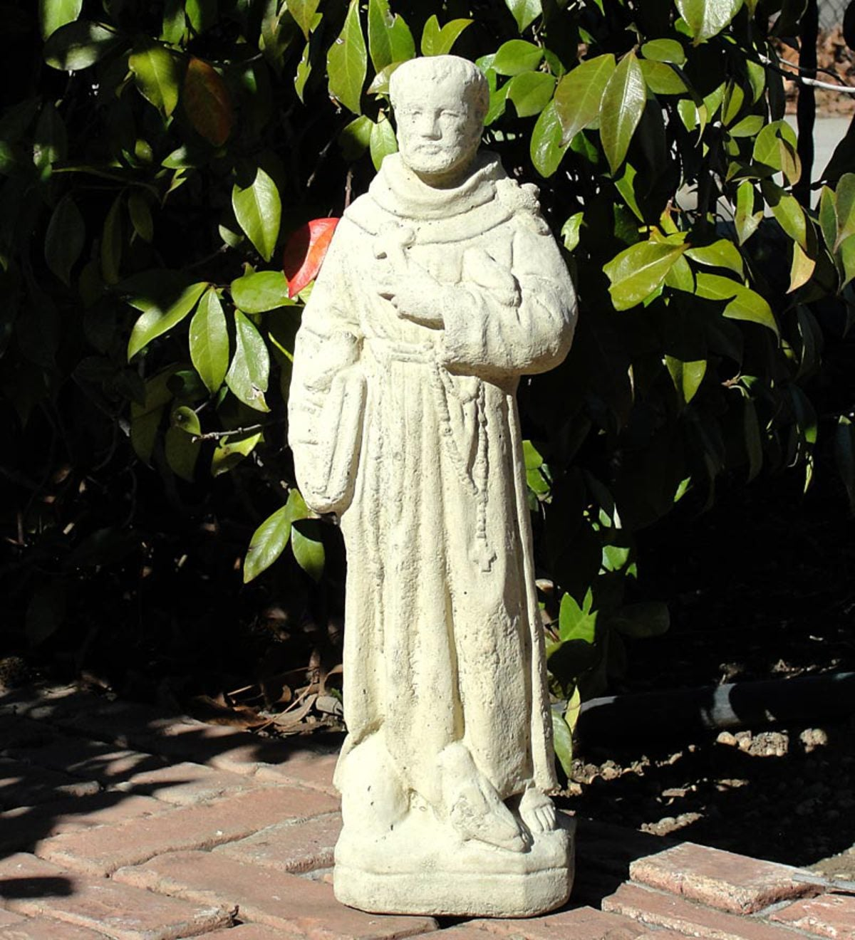 USA-Made Cast Stone Small Vintage St. Francis Garden Statue