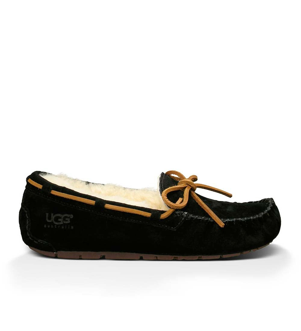 UGG Women's Dakota Moccasin Slippers - Black - Size 9