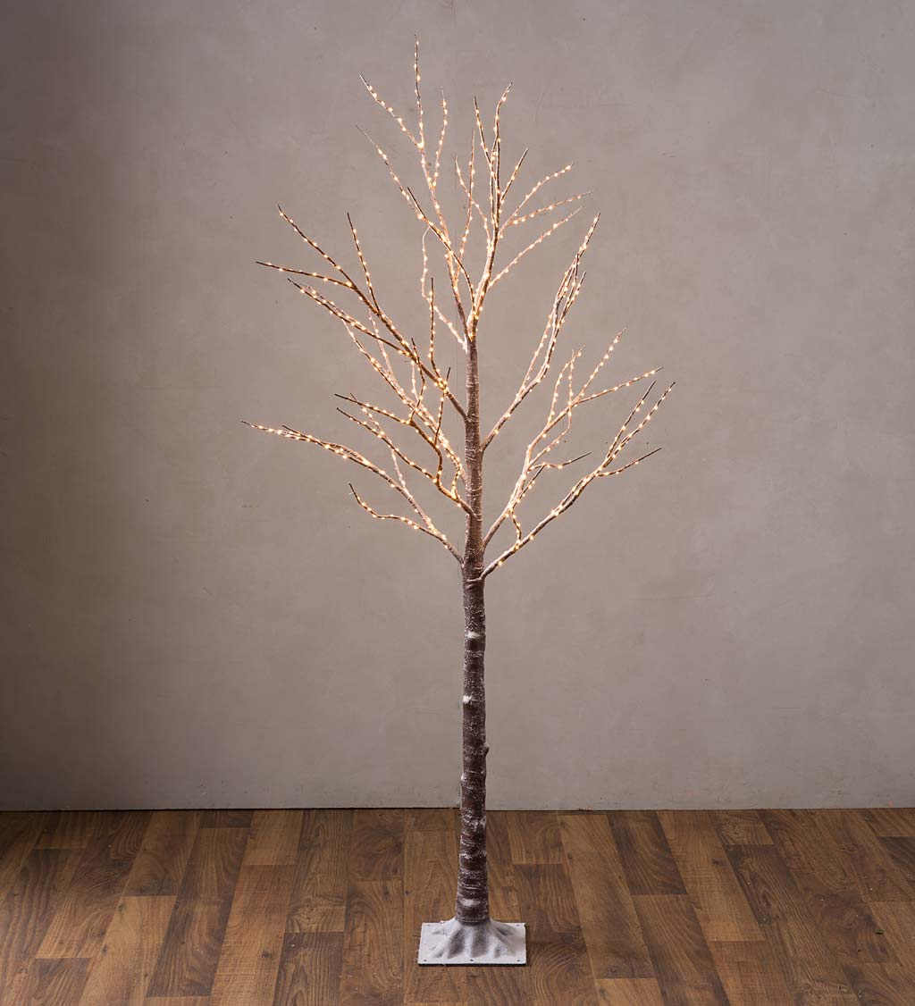 Large Indoor/Outdoor Birch Tree with 600 Warm White Lights