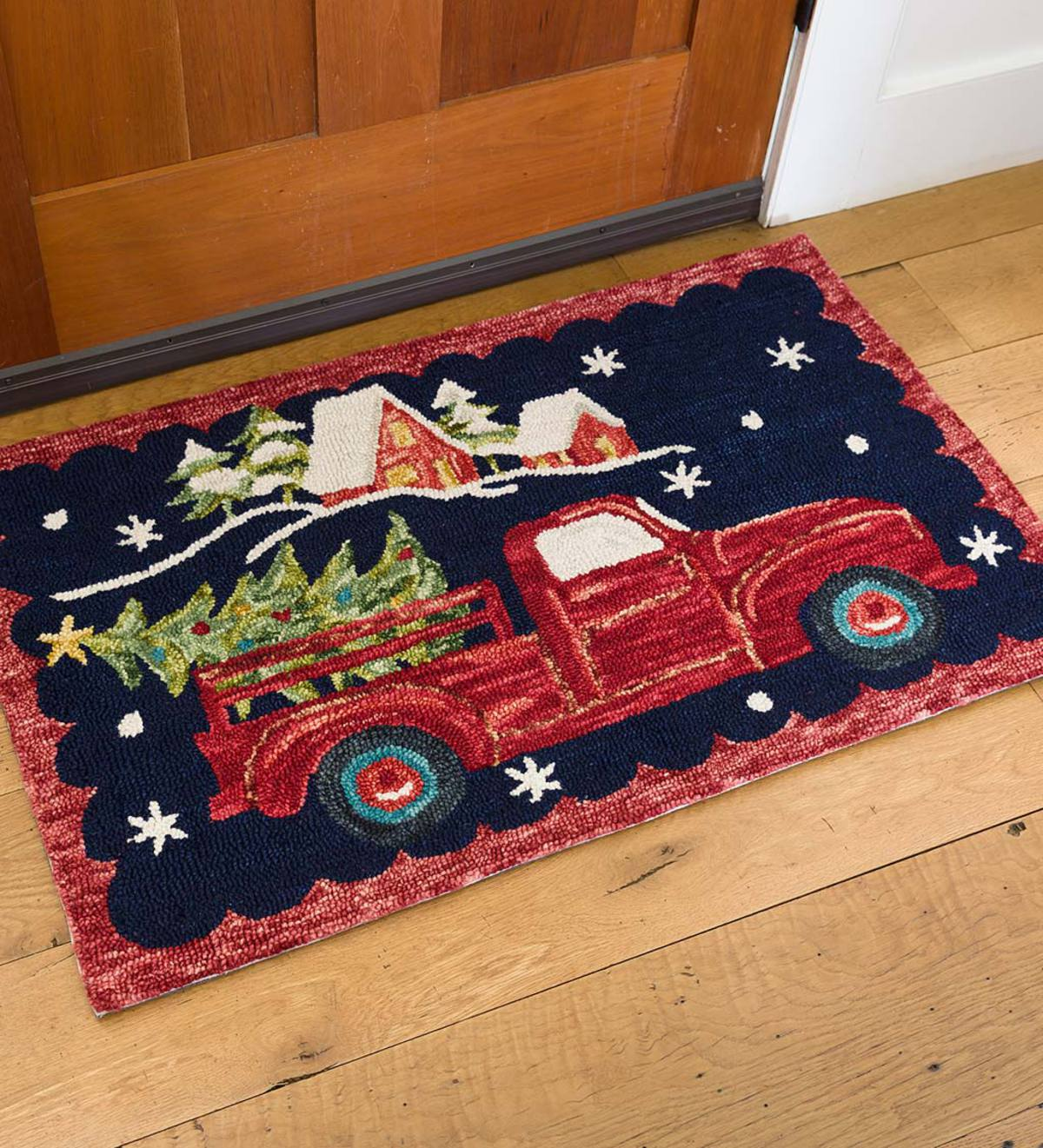 Holiday Harvest Hooked Wool Rug
