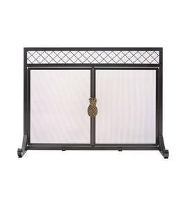 First Colony Pineapple Fireplace Screen With Doors