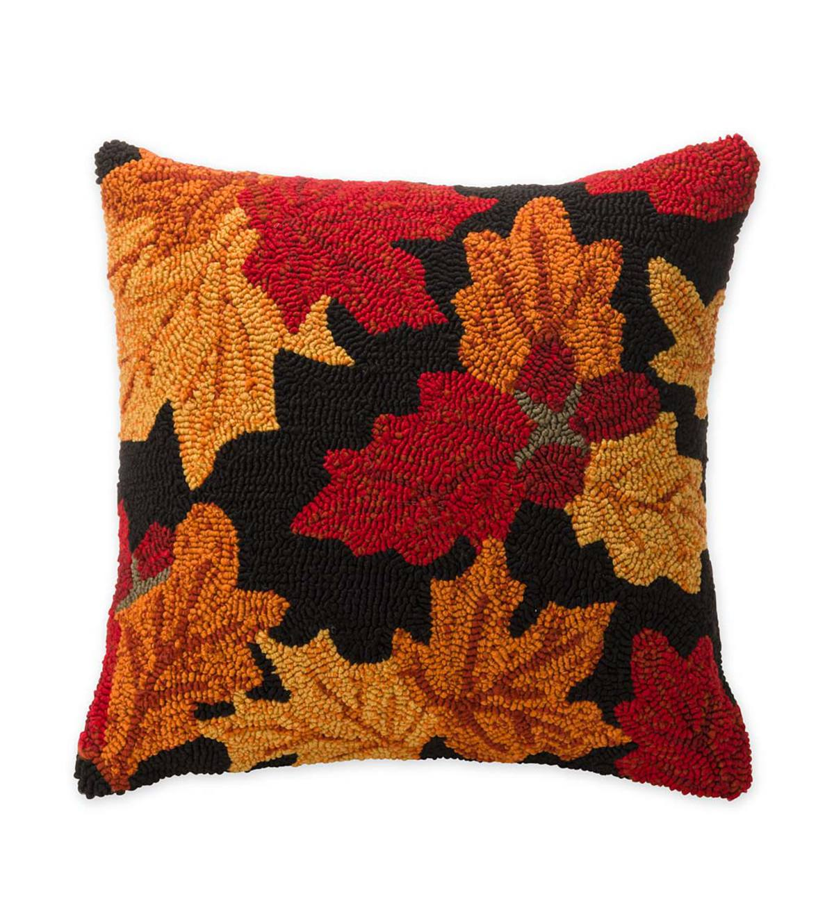 Indoor/Outdoor Falling Leaves Pillow
