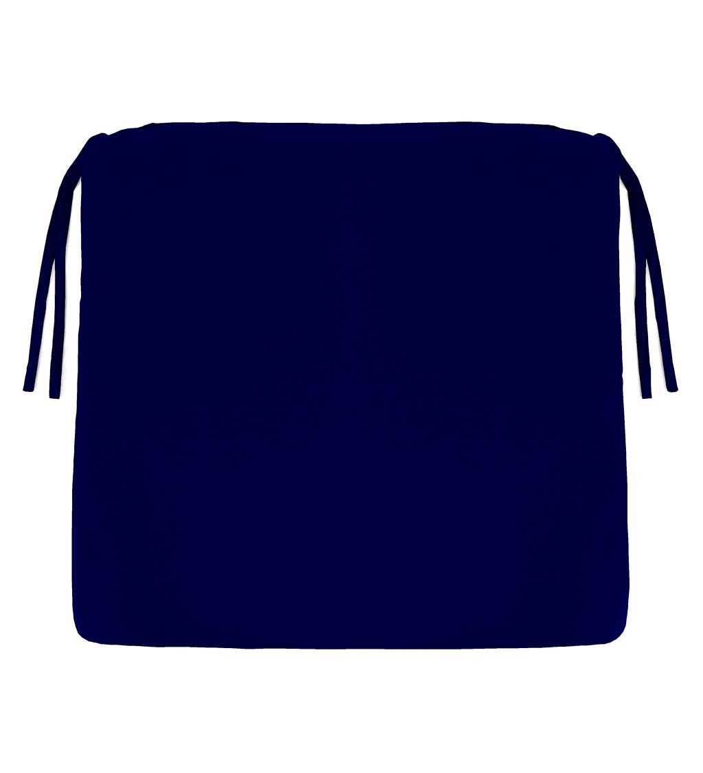 "Polyester Classic Chair Cushions with Ties, 20¾"" x 20""x 3"""