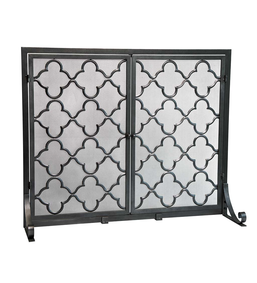 "Small Geometric Screen with Doors, 38""W x 31""H"