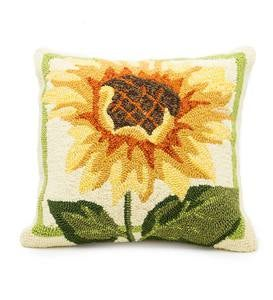 Indoor/Outdoor Sunflowers Throw Pillow