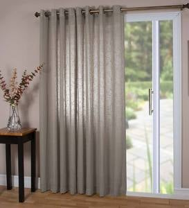 "Sheer Linen Panel with Grommets, 110""W x 84""L Double Width"