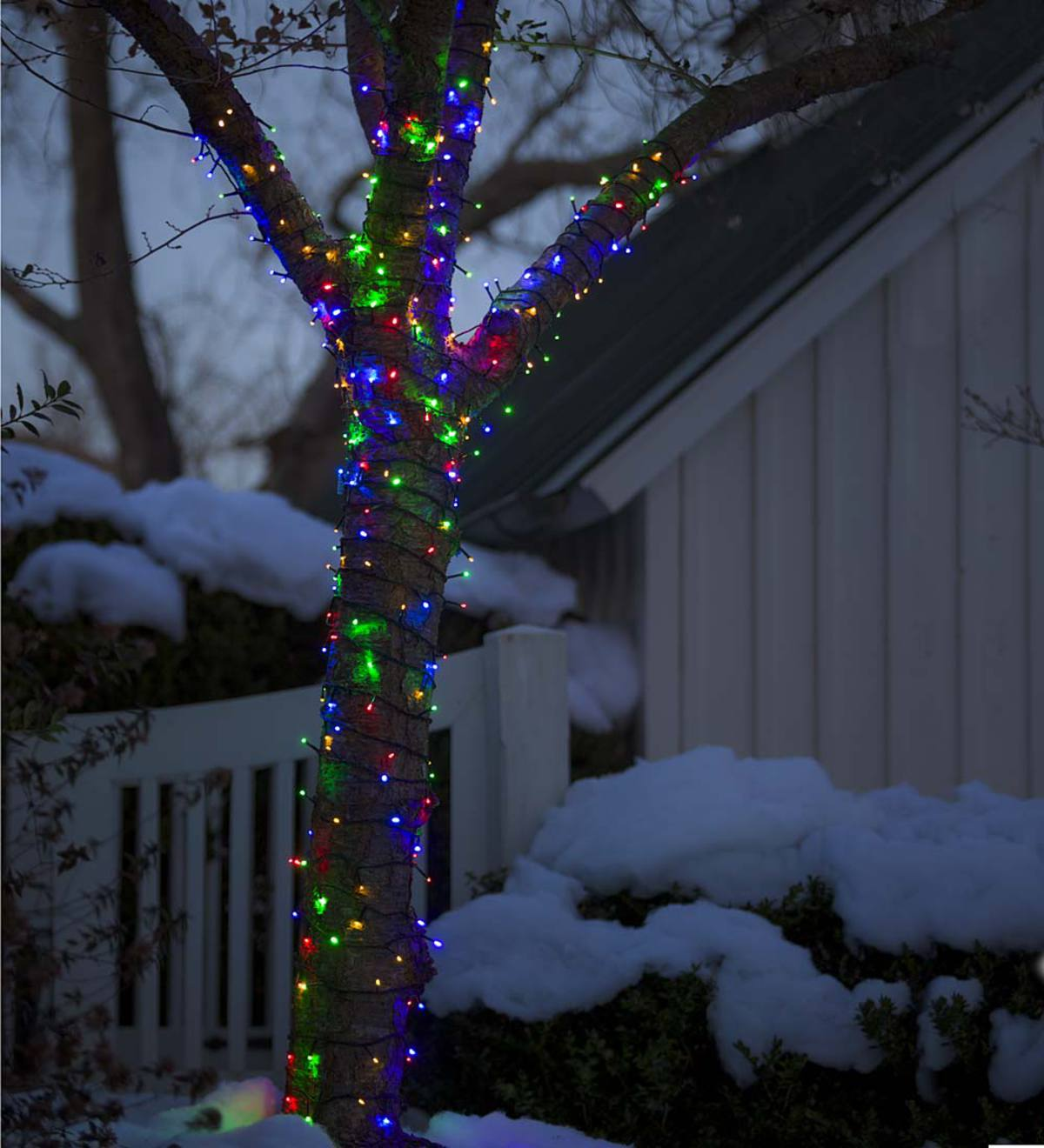 "LED Multifunction Twinkle String Lights, 12'10""L with 48 lights"