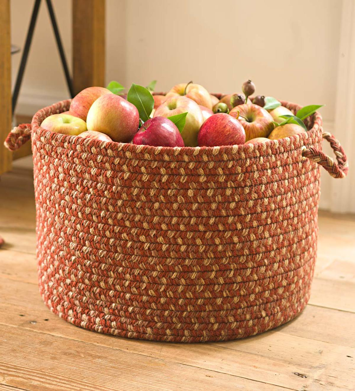 Braided Polypro Roanoke Basket with Handles